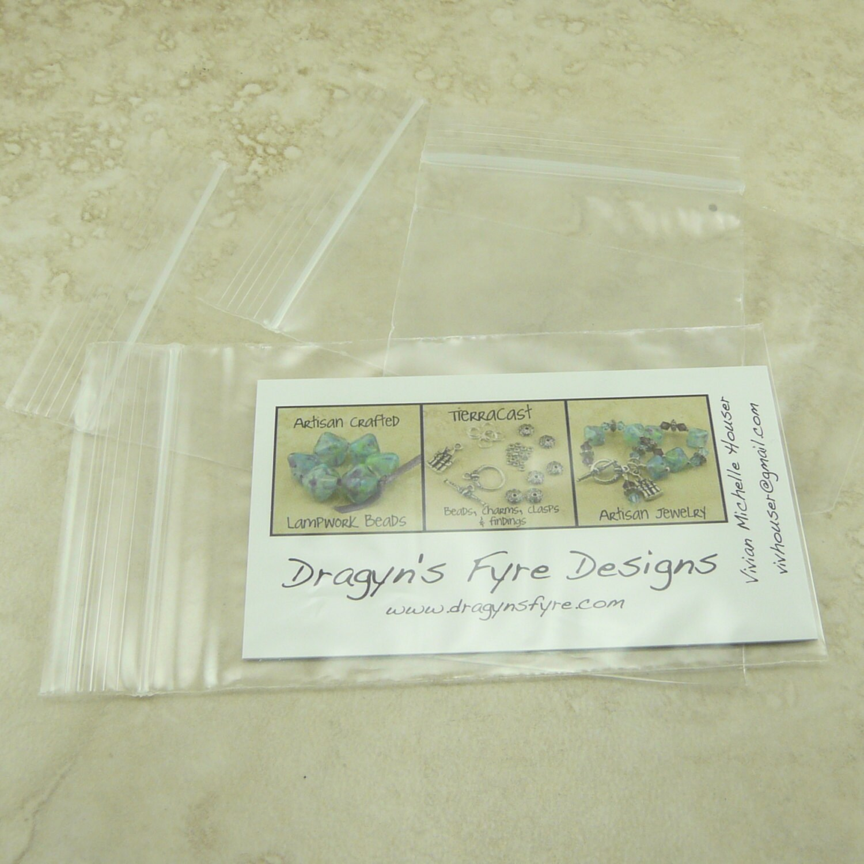 2.5 x 4 Business Card Size Zip Lock Baggies Baggy