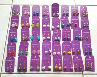 Set of 120 pairs of earrings