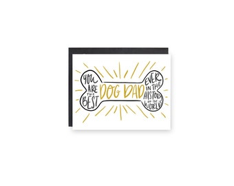 Dog Dad- Father's Day Card, Dad Card, Dog Owner Card