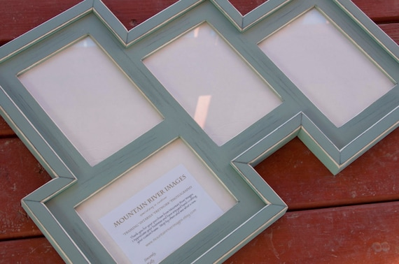 MULTI 4 Opening 5x7 distressed pine collage Frame holds 3 5x7\'s in ...