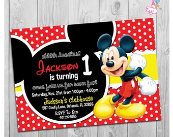 mickey mouse party invitations printable boy 1st birthday invitation digital kids invite party printables diy decorations coming soon