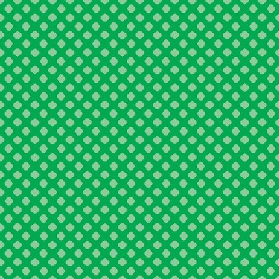Sale Girl Scouts Trefoil Green Riley Blake Designs Tone On