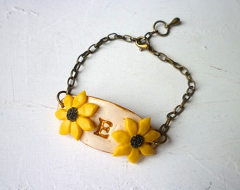Sunflower Bracelet - Flowergirl - Girl Jewelry