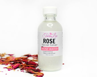 Rose Facial Toner - Soothing Face Toner, Rose Toner Hydrating, Gentle, Rejuvenating, Face Mist. With Rose Water TaraLee