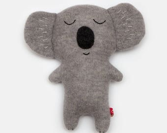 Clarence the Koala Bear Knitted Lambswool Soft Toy Plush - Made to order