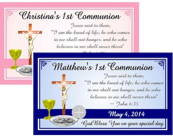 12 1ST HOLY COMMUNION party favors MAGNETS