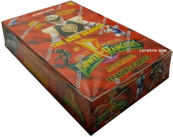 Power Rangers full box 36 packs trading cards retail 1994 - Red Box