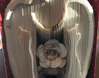 Folded Book Art, Cats in Love