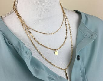 Layered Necklace | Minimalist Casual Jewelry | Dainty Necklace | Gold necklace