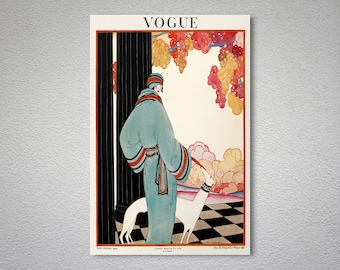 Vogue Cover October 1922 Fashion Poster - Poster Print, Sticker or Canvas Print / Gift Idea
