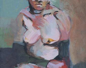 Figurative painting - Lee Pondering