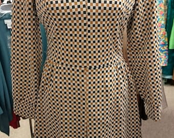 Vintage 1960s Lady Carol of New York Checkered Dress