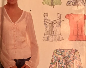 Cute Camisole or Blouse Pattern---New Look 6563---Sizes 8-18  Bust 34-44
