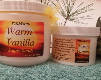 Warm Vanilla Sugar Scrub 16oz