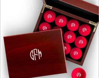 Personalized Pink Golf Balls With Personalized Display Box - 3620