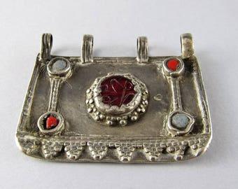 Antique afghan silver pendant - Ethnic pendant - Ethnic jewelry