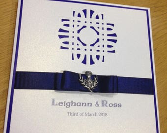 Scottish Celtic design invitation