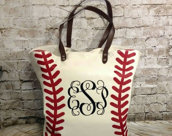 Baseball Tote, Baseball Bag, Baseball Tote Bag, Personalized Baseball Tote, Monogrammed bag, Baseball Tote, Baseball Bag, Baseball mom
