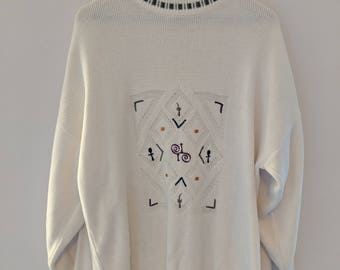 Oversize Jumper with Embroidered Detail