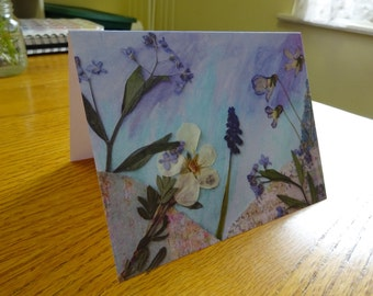 Winsome Wildflower Greeting Cards: Cool Spring Colours