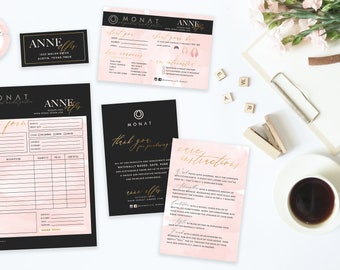 MONAT Package Bundle (order form + wash cards + event questionnaire + stickers) - DIGITAL FILE only
