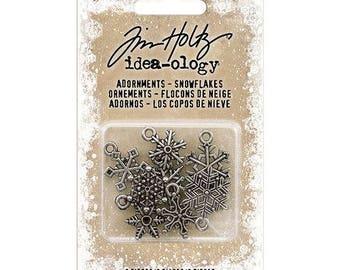 Advantus - Tim Holtz - Idea-ology Collection - Christmas - Adornments - Snowflakes