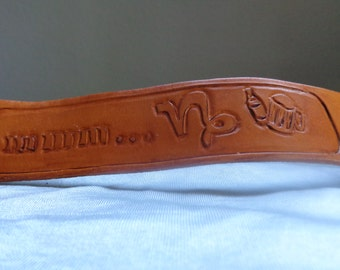Leather Cuff by Artrix Leather and Fine art -Beer Cuff