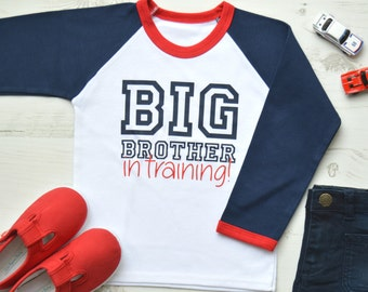 Big Brother In Training | Big Brother Announcement Shirt | Big Brother Shirt | Raglan Big Brother In Training