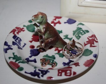 RARE OOAK Jurassic Park T-Rex Dinosaur Jewelry Ring Dish Geekery