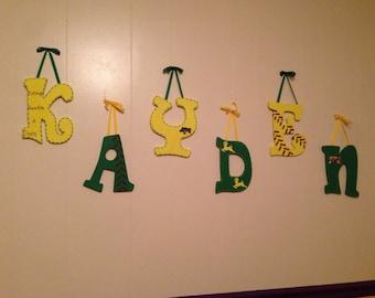 John deere nursery letters
