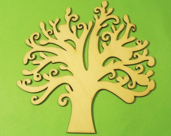 Baltic wood APPLIQUE: Tree 120 * 120 mm, 2.5 mm thick.