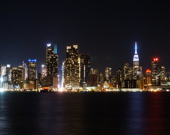 NYC Nigh Time Skyline