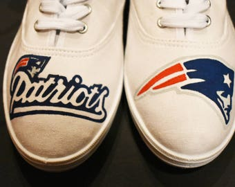 New England Patriots Painted Canvas Shoes