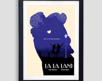 La La Land Poster, La La Land Print, La La Land Movie Poster, La La Land Olly Moss, La La Land Mondo, La La Land Gift, Lalaland Print