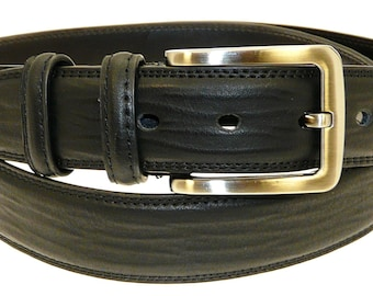Men's Quality Black Leather Belt In Gift Box (Style No.15).