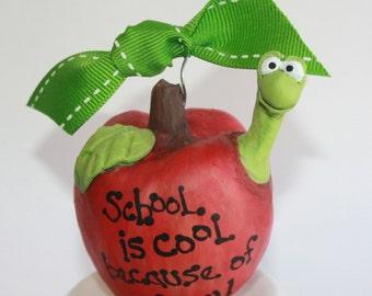 Teacher Christmas ornament | teacher gift | Apple Christmas ornament | personalized ornament | School teacher gift | unique gift
