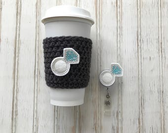 She said Yes, badge reel, cup cozy, newly engaged,  wedding ring, bride maids gifts, bridal shower thank you gifts, maid of honor gift