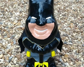 BATMAN Superhero custom unique hand painted garden gnome DC comics