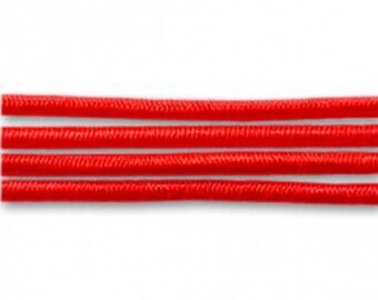 2 m elastic yarn wrapped 1 mm light red