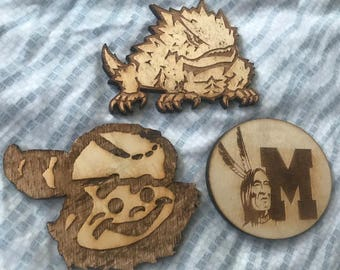 Custom Wood Coasters - Your Logo or File (sets of 4)