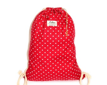 Ochos | Dots Red Sack Bag