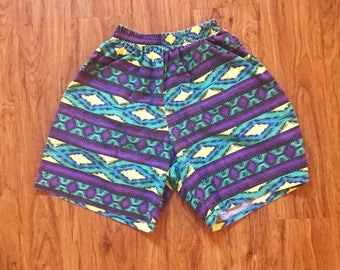 Vintage 80s 90s Highwaisted Tribal Shorts
