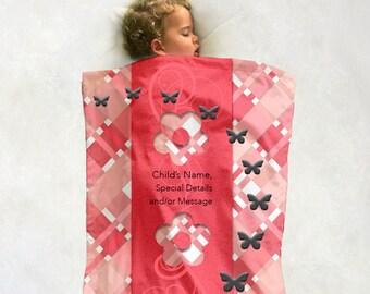 Custom 'Tartan' Designer Minky Baby Blanket