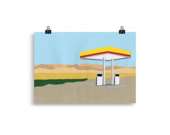 Art Print – Gas Station Death Valley