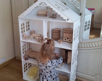 Big Dollhouse for Barbie without furniture