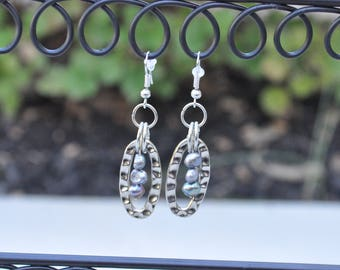 """Silver drop earrings with baroque pearls - """"Natalie"""""""