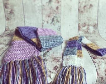 Crochet Mummy and Me Matching Scarves