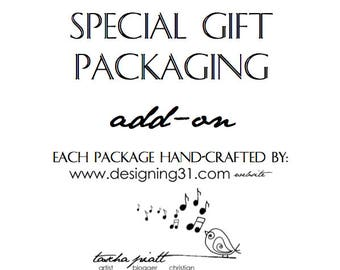 Gift Package and tag: ADD ON