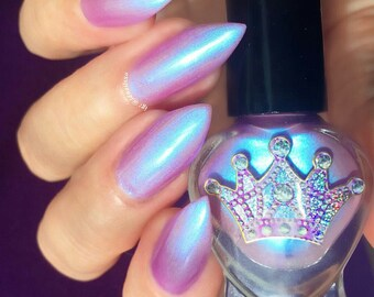 Tooti Frooti by Polish Me, Royalty! 5-toxin free, cruelty free, handmade colour shifting pink-lilac-blue nail polish