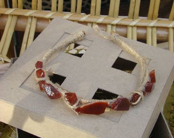 Headband with natural stones - Agate